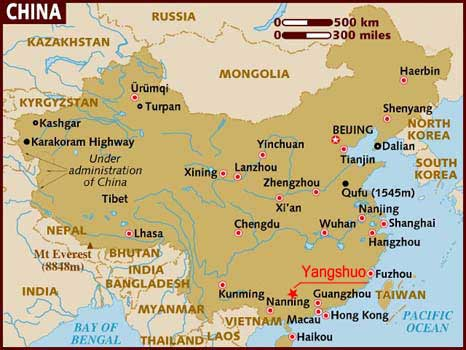 guilin map of china Location Omeida Chinese Academy guilin map of china