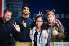 Welcome Marie, Rickard and Pablo to learn Chinese at Omeida.