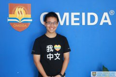 Welcome Chong Zhang to study Chinese at Omeida.